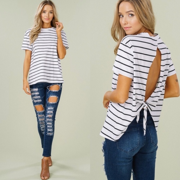 Tops - LIZZIE Softest Open Back Tee - IVORY